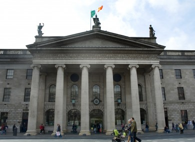 The GPO on Dublin's O'Connell Street. Jessica Mooney was last seen in the area on Monday. (File photo)