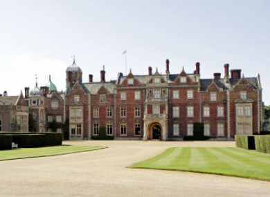 Sandringham House in Norfolk.