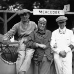 Rudolf Caracciola, third on right, was a famous German driver when he won the Irish Grand Prix on July 21, 1930 at Phoenix Park. AP Photo.