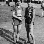 Stella Walsh, left, (here with Mildred 'Babe' Didrikson) won gold for Poland in the 100m sprint in 1932. A post-mortem on her death in 1980 found she had genitals of 'indeterminate' gender and controversy remains over retaining records she set.