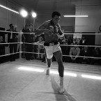 Muhammad Ali in training for his fight against Henry Cooper.