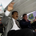 Ali arrives at the Special Olympics World Games Opening Ceremony at Croke Park in 2003.