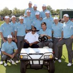 Boxing great Muhammad Ali visits the European team prior to the 2008 Ryder Cup at Valhalla Golf Club.