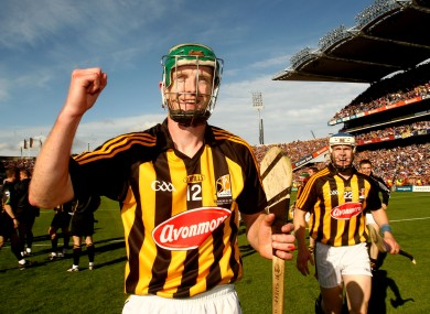 Shefflin at the final whistle of last year's All-Ireland final.
