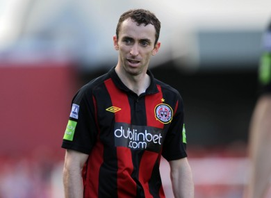 Cahill playing for Bohemians last season.