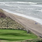 A bird's eye view of Portrush golf club, which was named as the venue for this year's Irish Open earlier this week. 
