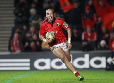 Simon Zebo in action against Nothampton on Saturday.