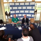 O'Connell and head coach Declan Kidney face the press. 