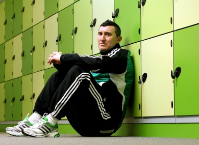Bray Wanderers' Jason Byrne at the Aviva Stadium today.