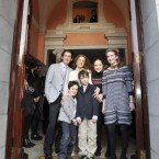 Dr Rhona Mahony with husband Daragh Fagan, children Hugh, 5, Daragh, 9, Sarah, 11 and Lorna, 12