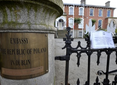 The Polish embassy in Dublin