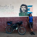 With Che, Cuba.