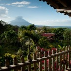 Beautiful views of the volcano abound in this region of Nicaragua.