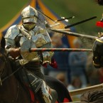 Sandy Lerner of Cisco Systems goes all out when it comes to jousting. It is one of her favorite hobbies, and she owns everything from the lances to the period costumes.