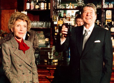 President Reagan and his wife Nancy during their 1984 trip to Ireland.