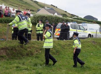 Garda at a Shell to Sea protest in 2009.