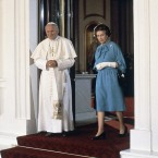 Three years after he had come to Ireland, Pope John Paul went to meet the head of the Church of England. John Paul II sought to overcome centuries of distrust when he became the first pope to visit British shores, preaching reconciliation between the Vatican and Anglicans. His message was timely, as Britain went to war with Argentina (a Catholic nation) over the Falkland Islands.