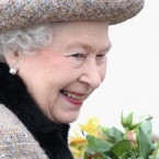 Queen Elizabeth II smiles as she leaves the Sunday Service at West Newton Church in King's Lynn, Norfolk.