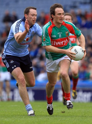 Dublin skipper Barry Cahill and Mayo's Alan Dillon.