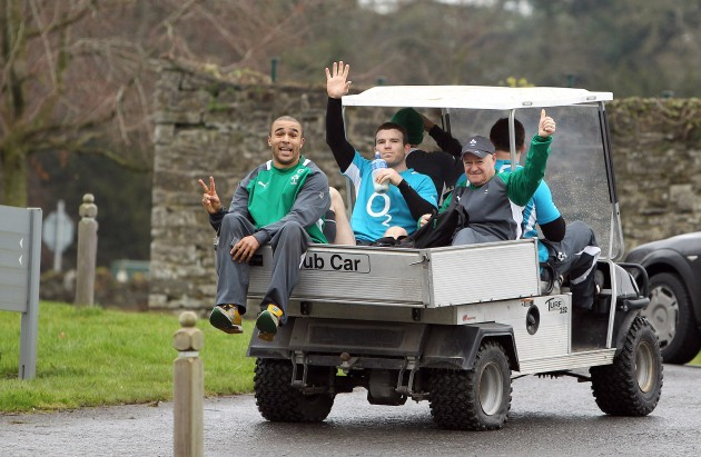 Simon Zebo, Gordon D'Arcy and Willie Bennett 9/2/2012