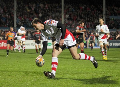 Ruan Pienaar touches down Ulsters second, a contender for Pro12 try of the season