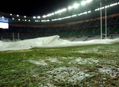 A shot of the Stade de France pitch earlier this evening.