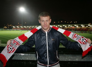 Sunderland winger James McClean celebrated his call-up to the Republic of Ireland squad by visiting the Brandywell to watch Derry City v Lisburn Distillery last night.