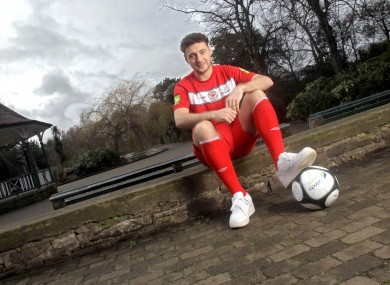 Quigley at the Airtricity League launch last week.