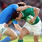The doubters asked that he not only perform heroics under the Garryowen, but also that he attack the gainline.