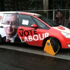 Labour's plans were disrupted slightly when they got clamped at the start of the campaign. Oops. (Photo: Gavan Reilly)