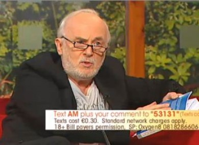 Tony Humphreys speaking on TV3's Ireland AM this morning