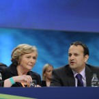 Minister for Children and Youth Affairs Frances Fitzgerald and Minister for Tourism Leo Varadkar Photo: Sasko Lazarov/Photocall Ireland
