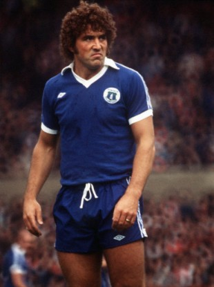 Former Everton and England striker Bob Latchford retired in 1987