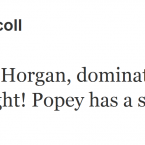 Brian O'Driscoll is impressed by Shane Horgan's punditry skills.