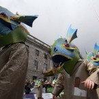 Every parade needs some giant fish men(Photo: Stephen Kilkenny/LightCurvePhoto.com)