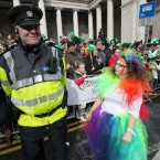 The garda doesn't seem to quite appreciate the effort she went to (Photo: Stephen Kilkenny/LightCurvePhoto.com)