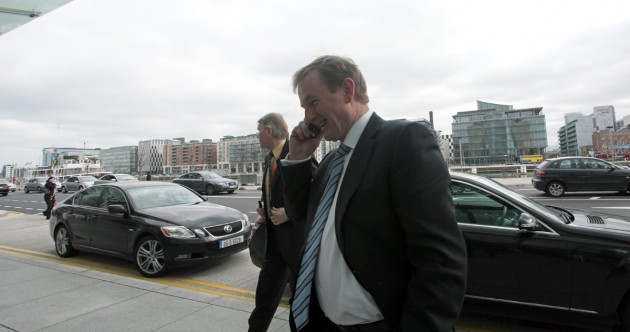 Taoiseach arrives at Convention Centre for Fine Gael Ard Fheis