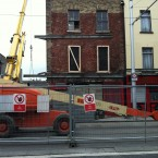 A photo submitted by reader Miriam Dowling showing the house on Benburb Street after the fire...