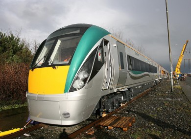 File photo of an Iarnrod Eireann train