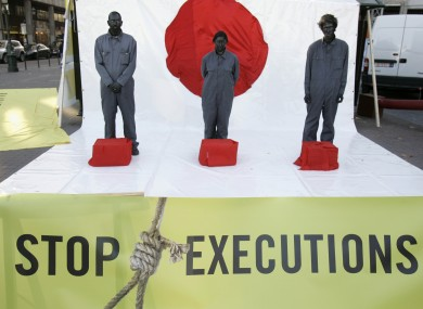 Amnesty activists campaign against the death penalty in Brussels (File photo)