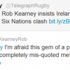 Rob Kearney is unimpressed by a recent story in the Telegraph.