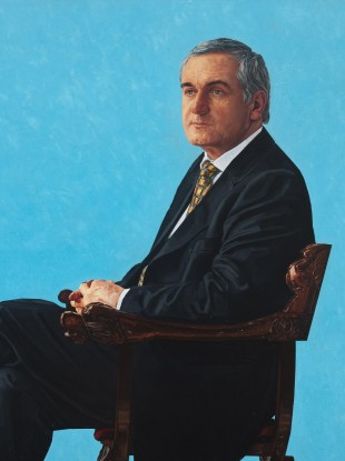 James Hanley's 10,000 portrait of Bertie Ahern, which was hung in Leinster House last year.
