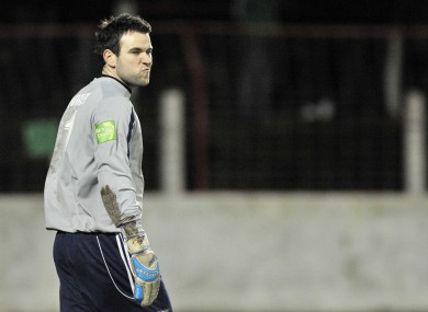 Bray keeper Darren Quigley: Quigley is free to play against UCD tonight after his three-match ban was rescinded.