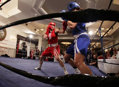 Katie Taylor in action against Sandra Brugger  of Switzerland last month.