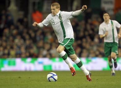 McClean played the final 11 minutes of last week's friendly against the Czech Republic.