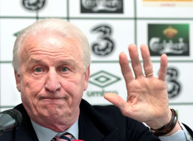 Giovanni Trapattoni faces the press this week.