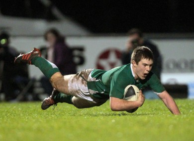 Luke McGrath scores a try.