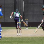 Ireland's William Porterfield is run out during the World T20 qualifier against Namibia.