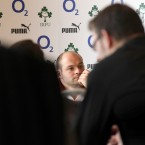 Ireland rugby captain Rory Best speaks to the media.