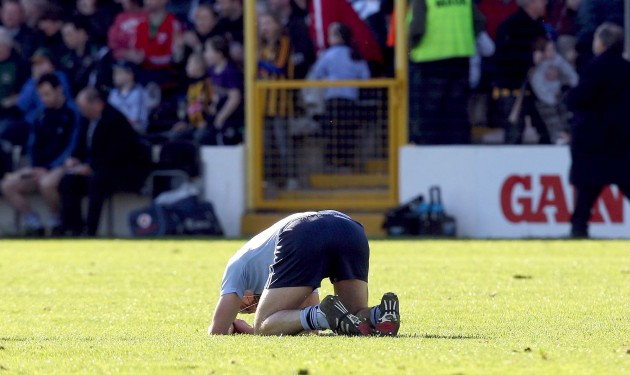 Danny Sutcliffe dejected at the final whistle 18/3/2012